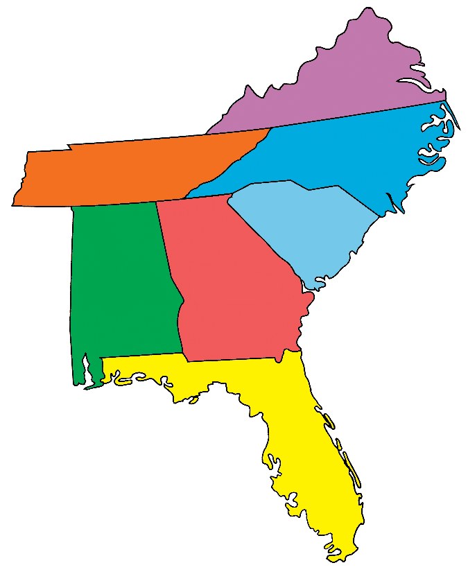 Southern States Region Map